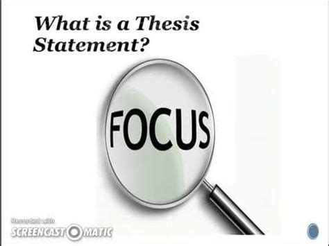 Thesis statement define english